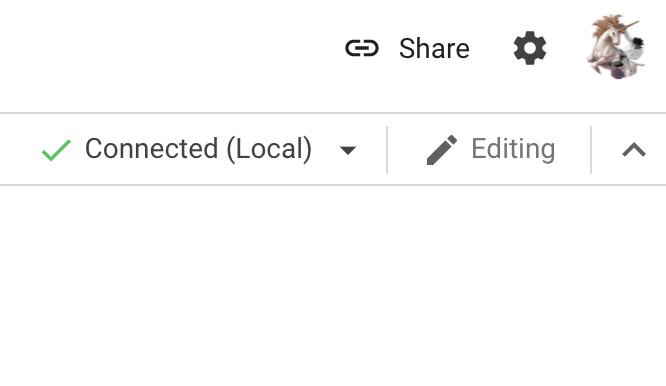 Google Colab Local Runtime connection windo